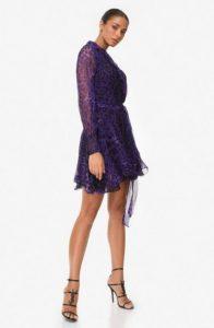 λεοπάρ μπλε φόρεμα