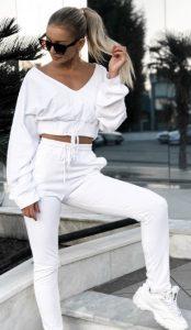 λευκές γυναικείες φούτερ φόρμες