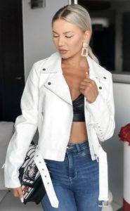 λευκό γυναικείο jacket δερματίνη