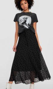 μακριά φούστα αστεράκια μαύρη
