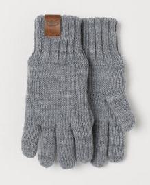 Γάντια μαλλινα γκρι