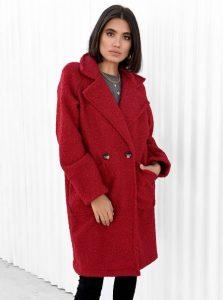 μάλλινο κόκκινο παλτό