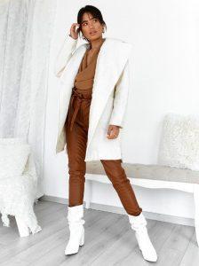 μάλλινο παλτό λευκό
