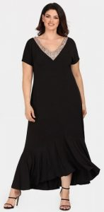 μαύρο μακρύ φόρεμα με πούλιες