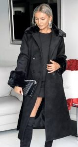 μαύρο βραδινό γυναικείο παλτό 2020
