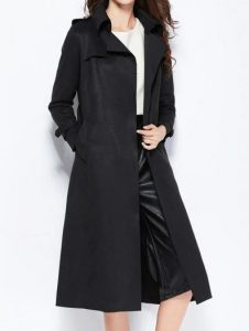 μαύρη μακριά καπαρντίνα ρούχα για όλες τις ώρες