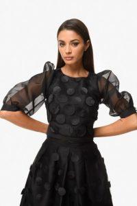 μαύρη μπλούζα διαφάνεια zini χειμώνα