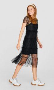 μαύρο φόρεμα δαντέλα