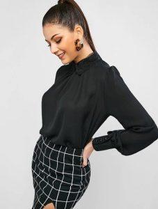 μαύρο κλειστό πουκάμισο ρούχα για όλες τις ώρες