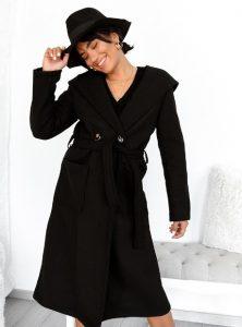 μαύρο μακρύ παλτό γυναικεία πανωφόρια χειμώνα