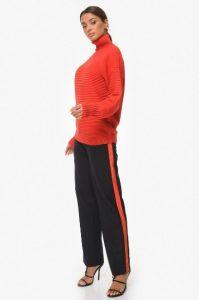 μαύρο παντελόνι κόκκινη ρίγα