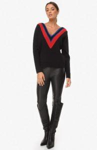 μαύρο πουλόβερ zini χειμώνα