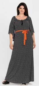 maxi φόρεμα μανίκια καμπάνα