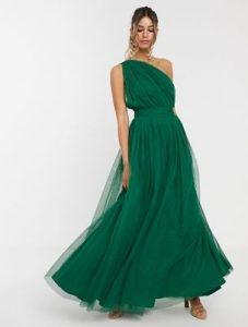 μάξι πράσινο φόρεμα
