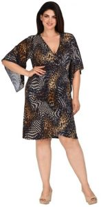 animal print κρουαζέ φορέματα μεγάλα μεγέθη