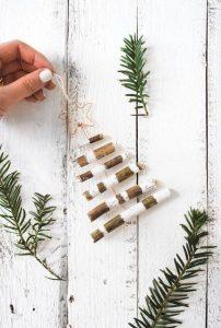 μικρό ξύλινο χριστουγεννιάτικο δέντρο διακοσμητικό