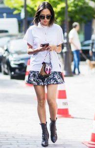 mini skirt πολύχρωμη αέρινη