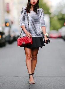 μαύρη mini skirt αέρινη