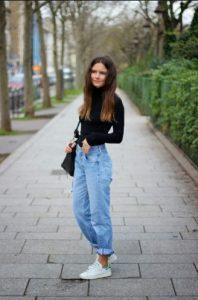 mom τζιν παντελόνι ζιβάγκο μαύρο είδη τζιν παντελονιού