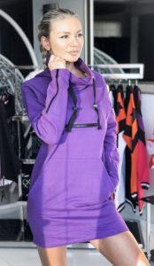 μοβ φούτερ μπλουζοφόρεμα