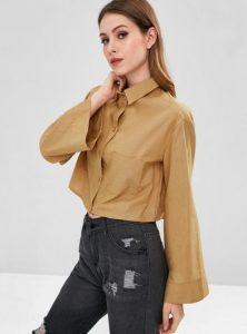 μπεζ πουκάμισο κοντό ρούχα για όλες τις ώρες