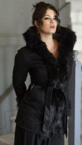 oversized παλτό Μαρία Κορινθίου