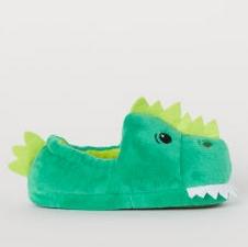 Παντόφλες πράσινες δεινόσαυρος