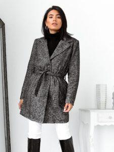 γκρι παλτό ζώνη γυναικεία πανωφόρια χειμώνα