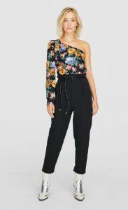 παντελόνι μαύρο ψηλόμεσο stradivarius χειμώνα
