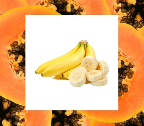 Παπάγια και μπανάνα για λαμπερό πρόσωπο