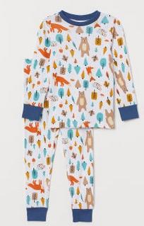 Πιτζάμες άσπρες με αλεπούδες