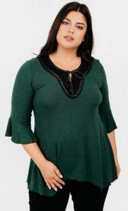πράσινη γυναικεία φθινοπωρινή μπλούζα