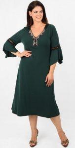 πράσινο ethnic φθινοπωρινό φόρεμα