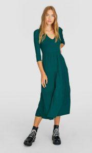 πράσινο μίντι φόρεμα