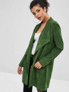 πράσινο suede πανωφόρι ρούχα για όλες τις ώρες