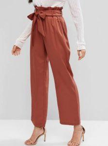 ψηλόμεσο κεραμιδί παντελόνι