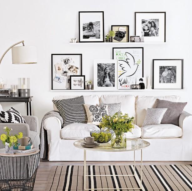 ράφια τοίχου μικρό σαλόνι