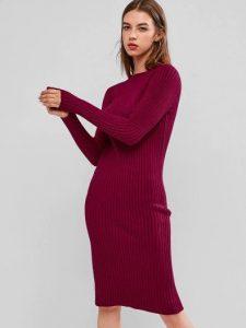 rib μπορντό φόρεμα ρούχα για όλες τις ώρες