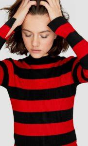 ριγέ κόκκινο πουλόβερ