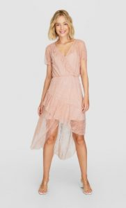 ρομαντικό ροζ φόρεμα