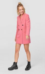 ροζ φόρεμα σακάκι