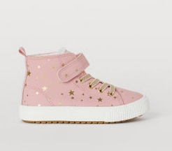 ροζ μποτάλο με αστέρια