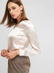 σατέν άσπρο πουκάμισο ρούχα για όλες τις ώρες