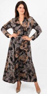 σεμιζιέ χειμωνιάτικο φόρεμα ίσια γραμμή