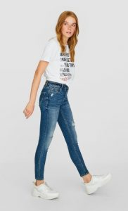 skinny τζιν παντελόνι