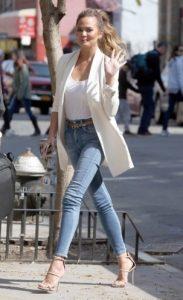 skinny jean πέδιλα σακάκι