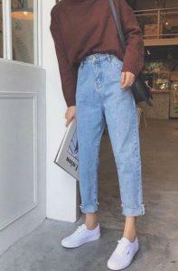 τζιν παντελόνι mom fit είδη τζιν παντελονιού