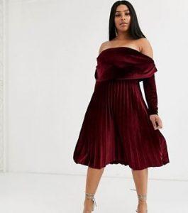 βελούδινο κόκκινο φόρεμα