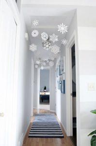 χιονονυφάδες διάδρομος Χριστούγεννα διακόσμηση