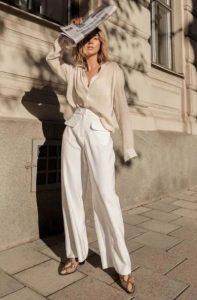 άσπρη παντελόνα animal print μποτάκι παντελόνι γραφείου μποτάκι